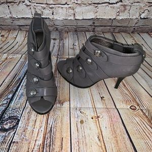 Coach gray peep toe ankle boots 8b